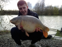 March 2014 catch: 21lb 2oz mirror